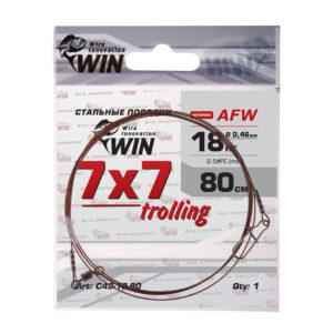 Поводок WIN 7×7 Trolling (AFW) 18кг  80см (1шт)